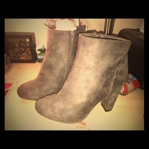 Cute Gray Ankle Boots
